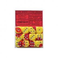 12 x D6 - Gemini Red-Yellow...